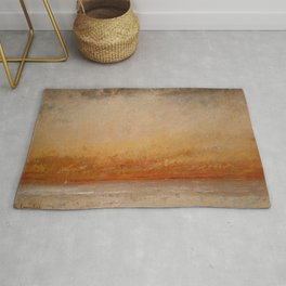 "Gustave Courbet ""Soleil couchant, Marine (Sunset, Seascape)"" Rug"