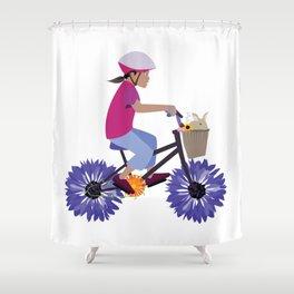 Summer Bike Ride Shower Curtain