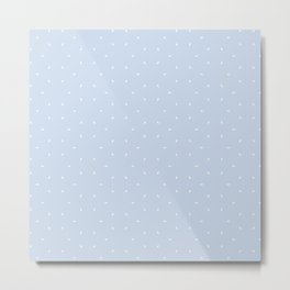 Pale Blue And White subtle pattern Metal Print