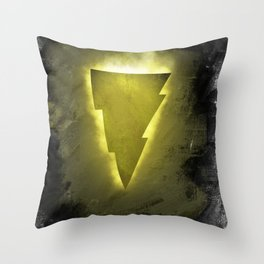 Shazam symbol Throw Pillow