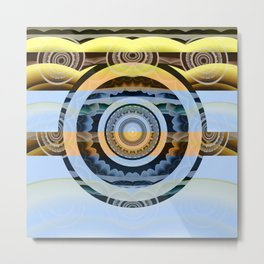 Sunrise Eye Healing Visionary Tibetan Meditation Mandala Metal Print