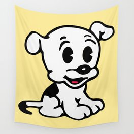 Pudgy, Mrs Boop Puppy companion, Design for Wall Art, Prints, Posters, Tshirts, Men, Women, Kids Wall Tapestry