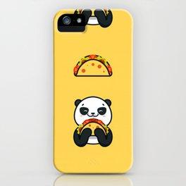 Cute Kawaii Taco Panda Pattern! iPhone Case