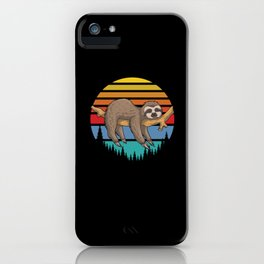 Sloth Solth Chillen Relaxing Sloth iPhone Case