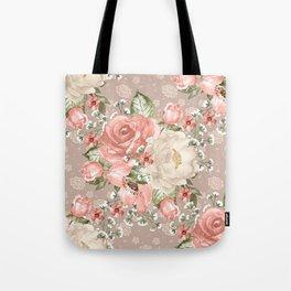 Peach Blush Vintage Watercolor Floral Pattern Umhängetasche