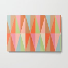 Abstraction_TRIANGLE_VISUAL_PATTERN_ART_001A Metal Print