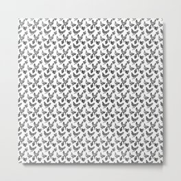 Backyard Chickens Line Art Metal Print