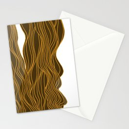 Parallel Lines No.: 03. - Brown, Symmetrical Stationery Cards