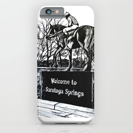 """Native Dancer"" Saratoga Springs, Thoroughbred Racehorse, Kentucky Derby, Equine Horse Artwork iPhone Case"