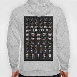 Coffee Types Chart Hoody