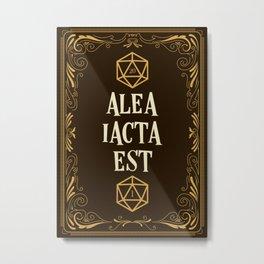 Alea Iacta Est The Die Has Been Cast D20 Dice Tabletop RPG Gaming Metal Print