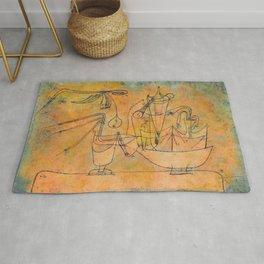 """Paul Klee """"Birnen-destillation (Distillation Of Pears)"""" Rug"""