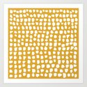 Dots / Mustard by summersunhomeart