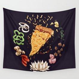 Pizza Mandala Wall Tapestry