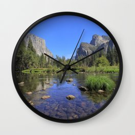 Yosemite and mirror lake Wall Clock