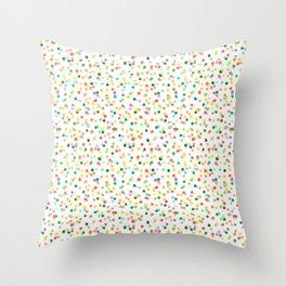 Polka Dot Confetti Throw Pillow