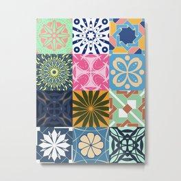 Middle Eastern Tiles - Geometric Pattern Metal Print