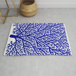 Fan Coral – Navy Rug