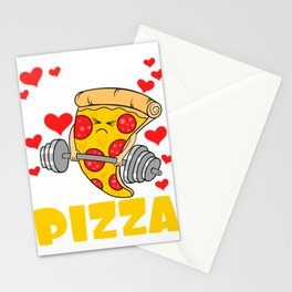 """""""I Do It For The Pizza"""" Gym Snacks Food Shirt For Snack Lovers Pepperoni Mushroom Meatballs Cheese Stationery Cards"""