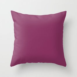 Dark Pink Purple Wine Solid Color Coordinates with Kelly Moore Accent Color KM5527 Dragons Fire Throw Pillow