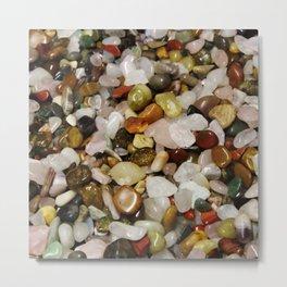 Beautiful Gemstones Metal Print