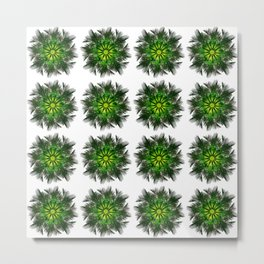 The Majesty Palm Light Flower (Pattern) Metal Print
