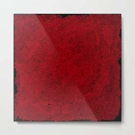 social contacts, red Metal Print