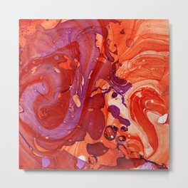 Abstract #1: The Fire Owl Metal Print