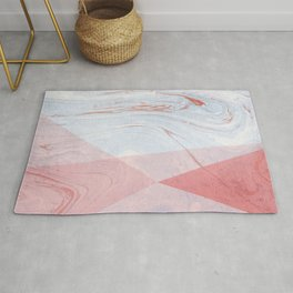Strawberry and Cream Marble Rug