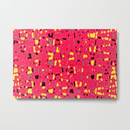 Lovely Pink with black and yellow spots, fresh abstract texture design, pattern Metal Print