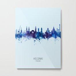 Helsinki Finland Skyline Metal Print
