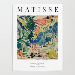 Landscape at Collioure - Henri Matisse - Exhibition Poster Poster