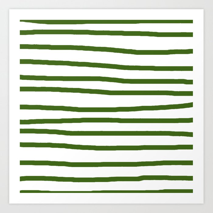 Simply Drawn Stripes in Jungle Green Kunstdrucke