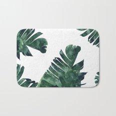 Banana Leaf Watercolor #society6 #buy #decor Bath Mat