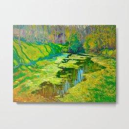 Václav Radimský (1867-1946) Modern Impressionist Oil Painting Colorful Bright Landscapes Metal Print