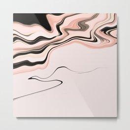 Pinkish Fluidity Metal Print