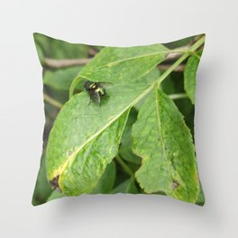 Countryside fly Throw Pillow