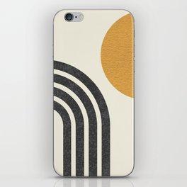 Mid century modern Sun & Rainbow iPhone Skin