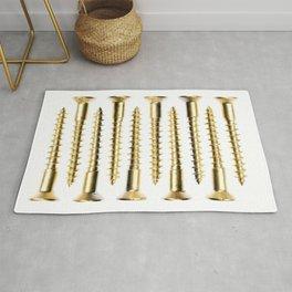 Golden Screws Poster Rug