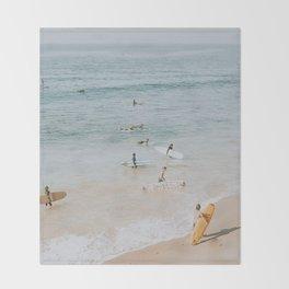 lets surf iii Throw Blanket
