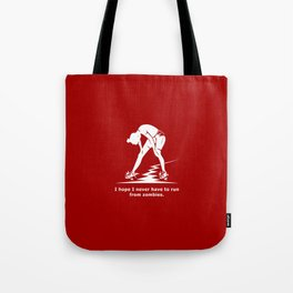 Running from Zombies Tote Bag