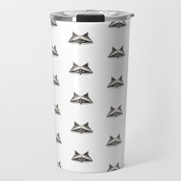 Raccoon Minimalist Pattern Travel Mug