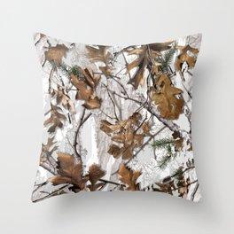 Traml™ Camouflage Whiteout Throw Pillow