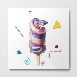 Sausage Dog Summer Flavour Metal Print