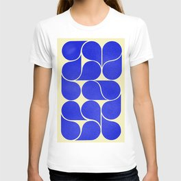 Blue mid-century shapes no8 T-shirt