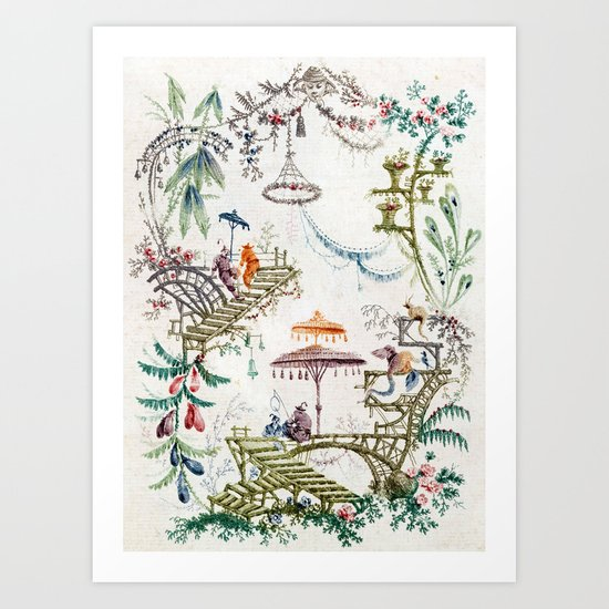 Enchanted Forest Chinoiserie by thechinoiseriepavillion