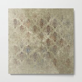 Aged Damask Texture 7 Metal Print