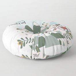 La Carretera Austral Floor Pillow