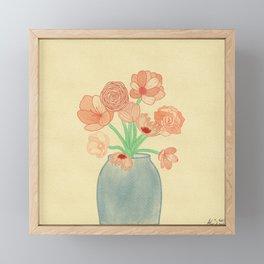 Serene Flowers Framed Mini Art Print