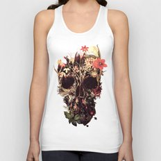 Bloom Skull Unisex Tank Top